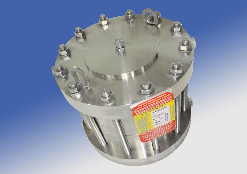 Amortiguadores de membrana con camisa calefactora