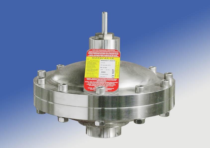 Amortiguadores de membrana con doble vástego indicador