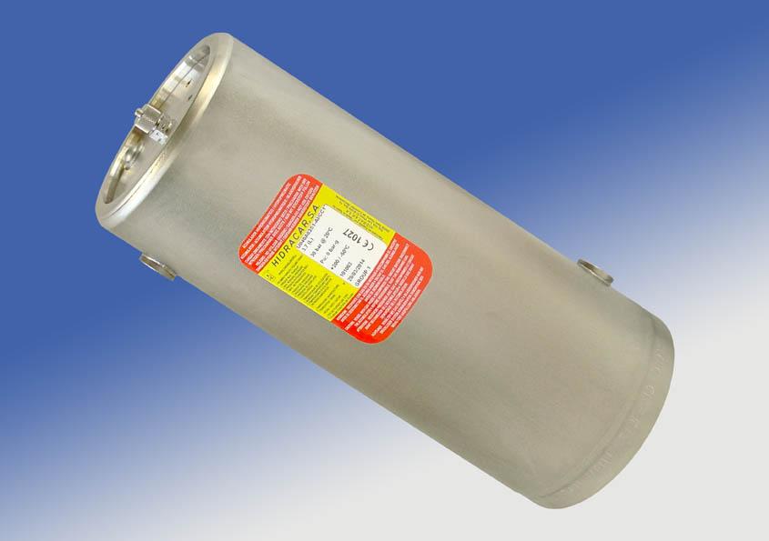 amortiguadores de vejiga con camisa calefactora