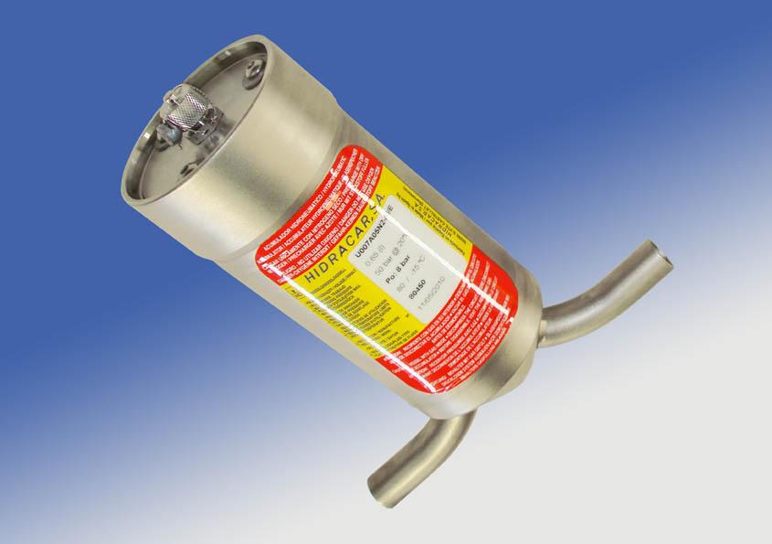 Amortiguadores de vejiga con doble conexión al circuito
